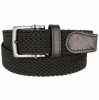 Nike Men's Golf Stretch Woven Braided Belt 11228001 - Black