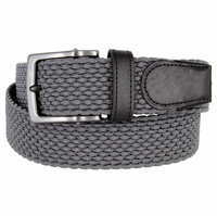 Nike Men's Golf Stretch Woven Braided Belt 11228051 - Dark Gray