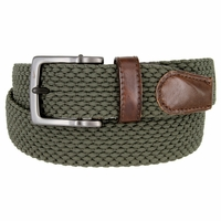 Nike Men's Golf Stretch Woven Braided Belt 11228209 - Green