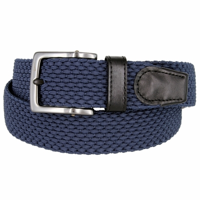 Nike Men's Golf Stretch Woven Braided Belt 11228426 - Navy