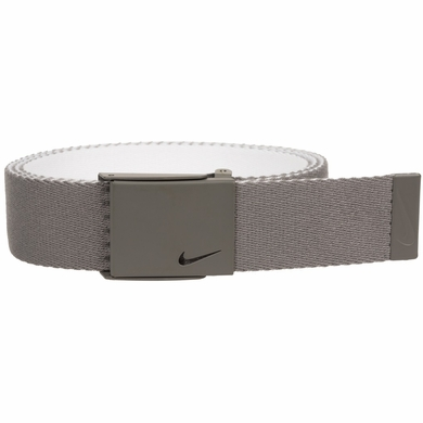 Nike New Tech Essentials Reversible Web Golf Belt - Charcoal/White
