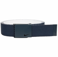 Nike New Tech Essentials Reversible Web Golf Belt - College Navy/White