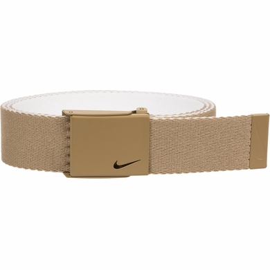 Nike New Tech Essentials Reversible Web Golf Belt - Khaki/White