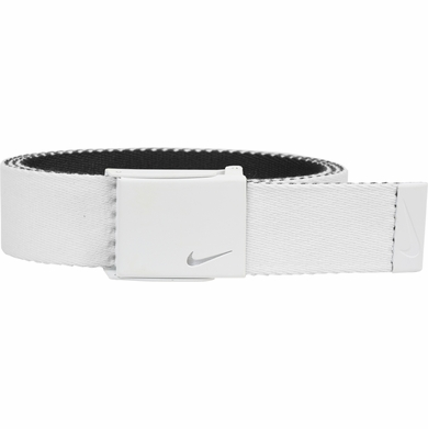 Nike New Tech Essentials Reversible Web Golf Belt - White/Black