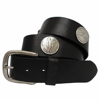 Oregon Memorial Half Dollar Coin Concho Leather Biker Belt