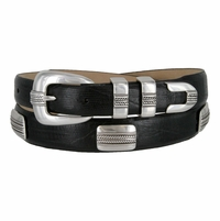 River Lake Italian Calfskin Genuine Leather Designer Concho Belt