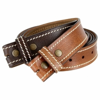 "BS003 100% Genuine Full Grain Leather Belt Strap 1-1/2"" wide"