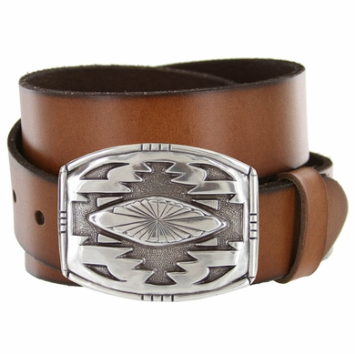 Phoenix Southwestern Buckle Full Grain Leather Belt