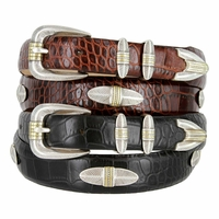 Rattan Italian Calfskin Leather Designer Belt