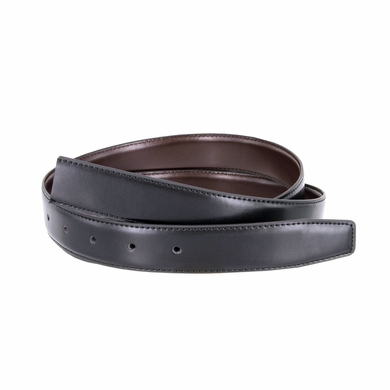 "Reversible Belt Strap Genuine Leather Black/Brown 1-1/8"" (30mm) Wide"