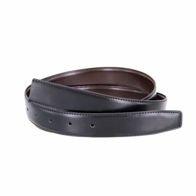 "Reversible Belt Strap Genuine Leather Black/Brown 1-3/8"" (35mm) Wide"
