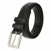 "Rome Men's Genuine Leather Dress Belt 1-1/8"" Wide - Black"