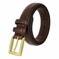 "Rome Men's Genuine Leather Dress Belt 1-1/8"" Wide - Brown"