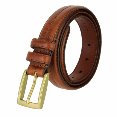 "Rome Men's Genuine Leather Dress Belt 1-1/8"" Wide - Tan"