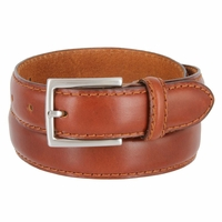 "S029/30 Men's Italian Leather Dress Casual Belt 1-1/8"" Wide Made in Italy - Marrone (Brown)"