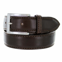 "S029/35 Men's Italian Leather Dress Casual Belt 1-3/8"" Wide Made in Italy - T. Moro (Dark Brown)"