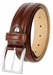 "S067/35 Men's Italian Leather Dress Casual Belt 1-3/8"" Wide Made in Italy - Bruciato (Med. Brown)2"