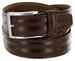 "S067/35 Men's Italian Leather Dress Casual Belt 1-3/8"" Wide Made in Italy - T. Moro (Dark Brown)"