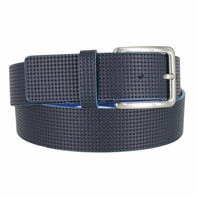 "S200/40 Men's Italian Leather Casual Dress Belt 1-1/2"" Wide Made in Italy - Blue/Turquoise"