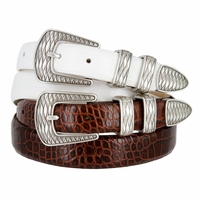 S8155 Men's Italian Leather Dress Designer Belt