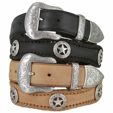 "San Antonio Western Leather Belts 1.5"" Wide"