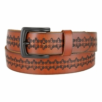 "Saundry Western Designer Genuine Full Grain Leather Belt 1-1/2"" Wide"
