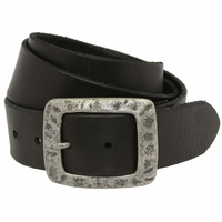 SF933040 Men's Full Grain Leather Casual Jean Belt Black