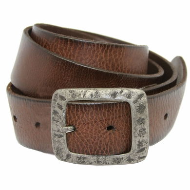 SF933040 Men's Full Grain Leather Casual Jean Belt -Brown