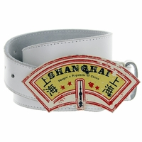 Shanghai Belt Buckle Casual Jean Leather Belt
