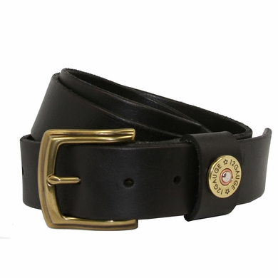 "Shotgun Shell Men's Genuine Full Leather Casual Jean Belt 1-1/2"" Wide - Black"