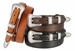 "Silver Edge Men's Genuine Leather Ranger Belt 1-1/8"" taper to 3/4"""
