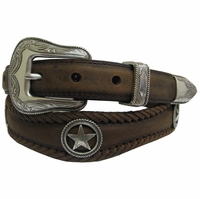 Silver Star Genuine Leather Western Belt