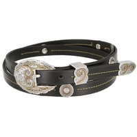 "Slinky Cowgirl Full Grain Cowhide Leather Belt  3/4"" wide"
