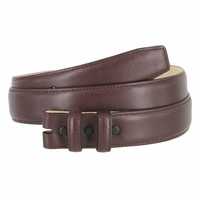 "Smooth Genuine Leather Belt Strap 1 1/4"" wide (32mm) with Two Loop - Burgundy"