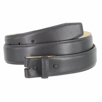 "Smooth Genuine Leather Belt Strap 1 3/8"" wide (35mm) with Single Loop - Charcoal Gray"