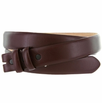 "Smooth Leather Belt Strap 1 1/8"" wide (30mm) - Burgundy"