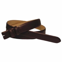 "Smooth Leather Belt Strap Taper 1 1/8"" to 1"" wide"