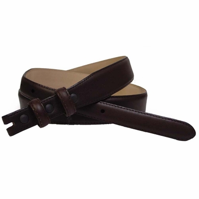 "Smooth Leather Belt Strap Taper 1 1/8"" to 3/4"" wide"