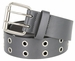 Solid Rich Fashion Color Double Prong Genuine Leather Casual Jean Belt Grey1