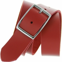 "Sophia Red Full Grain Leather Belt 1-1/4"" Wide"