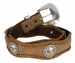 SteerBerry LongHorn Steer Concho Western Leather Belt4