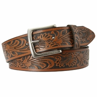 Stonehenge Genuine Leather Western Belt - Brown