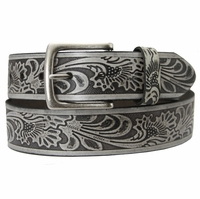 Stonehenge Genuine Leather Western Belt - Grey