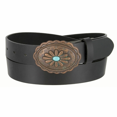 Susannah Copper Patina Buckle with Turquoise Inset Women's Western Belt