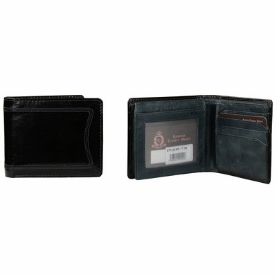 T-02 Turin Collection Genuine Leather Dress Wallet - Black / Blue
