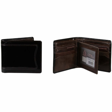 T-50 Turin Collection Genuine Leather Dress Wallet - Black / Brown