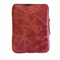 Tablet eBook iPad Kindle eReader Cowhide Leather Case - Vintage Red