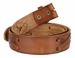 "TB 105 Brown Genuine Hand-Laced Leather Belt Strap 1-3/4""1"