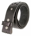 "TB105 Black Genuine Hand-Laced Leather Belt Strap 1-3/4"" Wide3"