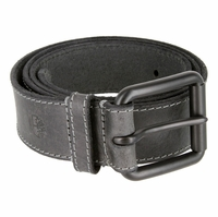 Timberland 38mm Edge Stitch Roller Buckle Belt Black